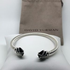 David Yurman Onyx wrap 4mm bracelet cuff